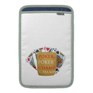 Champion des Poker-ART101 - Designer-Text der Kuns Sleeves Fürs MacBook Air