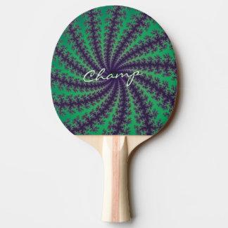 Champions-grünes gewundenes tischtennis schläger