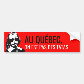 Champlain Hipster Quebec nicht befühlten - IHR Autoaufkleber