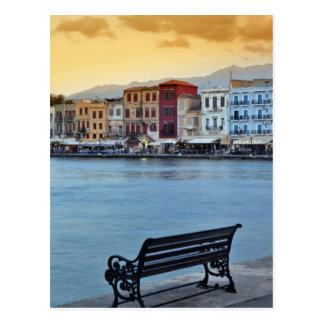 Chania an der Dämmerung, Chania, Kreta, Postkarte