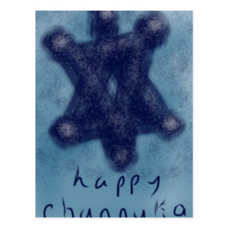 Channukah Stern Postkarte