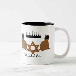 Chanukah Katzen-Tasse Zweifarbige Tasse