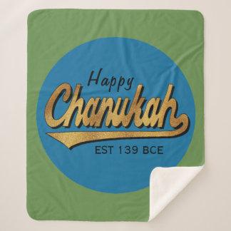 """Chanukah Retro"" Chanukka Fleece-Decke/Medium Sherpadecke"