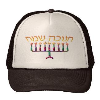 Chanukah Sameach Hüte Truckerkappe