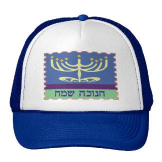 Chanukah Sameach Menorah Hüte Baseballcap