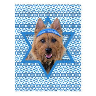 Chanukka-Davidsstern - Australisches Terrier Postkarte