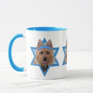 Chanukka-Davidsstern - Australisches Terrier Tasse