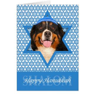 Chanukka-Davidsstern - Bernese Gebirgshund Karte