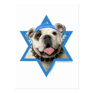 Chanukka-Davidsstern - Bulldogge Postkarte
