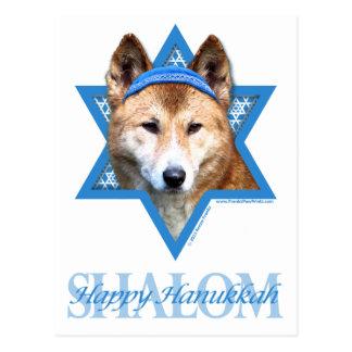Chanukka-Davidsstern - Dingo Postkarte
