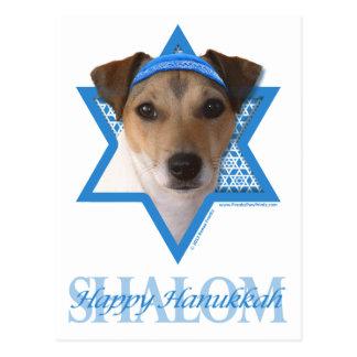 Chanukka-Davidsstern - Jack-Russell-Terrier Postkarte