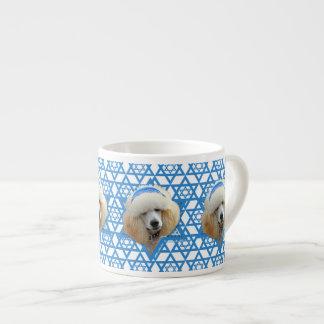 Chanukka-Davidsstern - Pudel - Aprikose Espressotasse