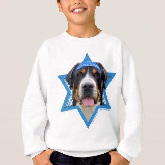 Chanukka-Davidsstern - Schweizer Gebirgshund Sweatshirt