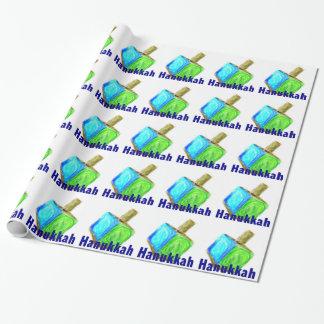 Chanukka Dreidels Geschenkpapier