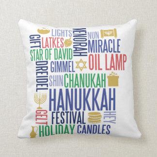 Chanukka fasst Feiertags-Wurfs-Kissen ab Kissen