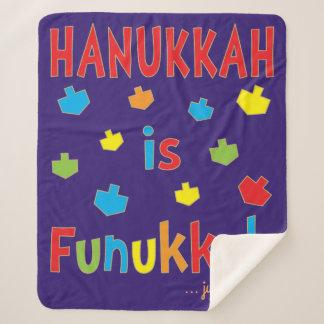 """""""Chanukka ist Funukkah"""" Dreidels Fleece-Decke/MED Sherpadecke"""