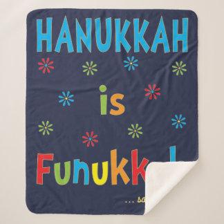 """""""Chanukka ist Funukkah"""" Sherpa Fleece-Decke/MED Sherpadecke"""