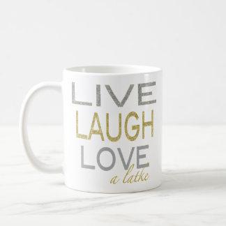 "Chanukka-Tasse ""leben Lachen-Liebe ein Latke "" Kaffeetasse"