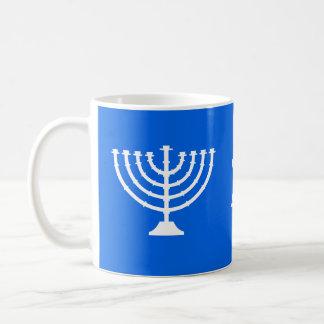 Chanukka-Thema Dreidel Menorah Davidsstern Kaffeetasse