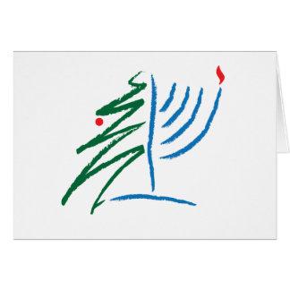 Chanukka-/Weihnachtskarte Grußkarte