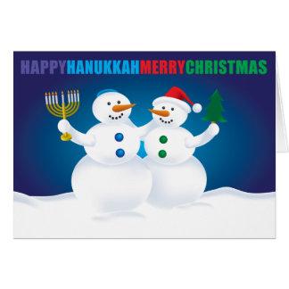 Chanukka-WeihnachtsSchneemann-Karte Grußkarte