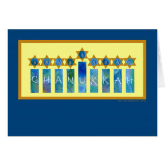 Chanukkah Lichter Karte