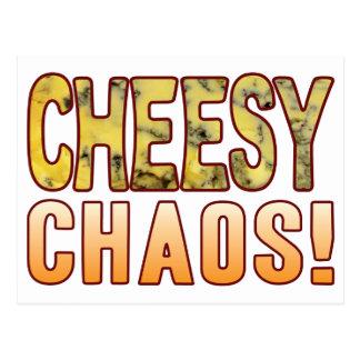 Chaos-Blauschimmelkäse Postkarte