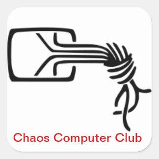 Chaos-Computer-Vereinaufkleber Quadratischer Aufkleber