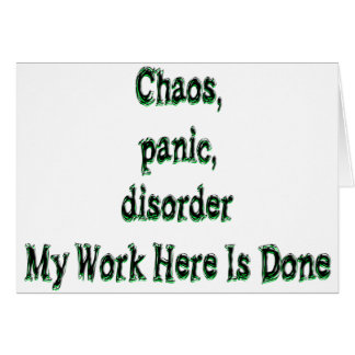 Chaos-Panik-Störung Karte
