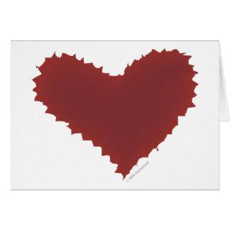 Chaotisches Herz zerriss Rand schlechte Liebe Karte