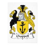 Chappell Familienwappen Einladungskarte
