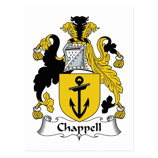 Chappell Familienwappen Postkarten