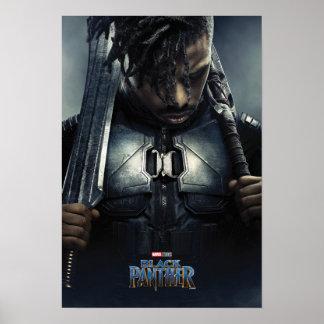 Charakter des schwarzen Panther-| Erik Killmonger Poster