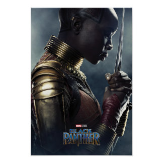 Charakter des schwarzen Panther-| Okoye Poster