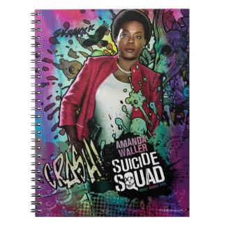 Charakter-Graffiti der Selbstmord-Gruppen-  Amanda Notizblock