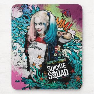 Charakter-Graffiti der Selbstmord-Gruppen-  Harley Mousepad