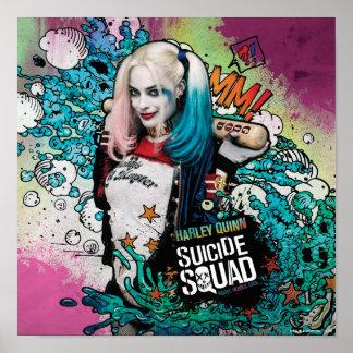 Charakter-Graffiti der Selbstmord-Gruppen-| Harley Poster