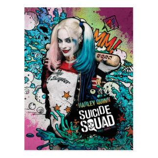 Charakter-Graffiti der Selbstmord-Gruppen-| Harley Postkarte