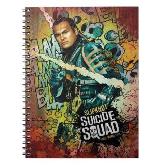 Charakter-Graffiti der Selbstmord-Gruppen-  Notizblock
