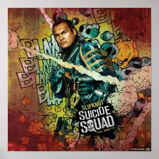 Charakter-Graffiti der Selbstmord-Gruppen-| Poster