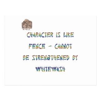 Charakter ist wie Zaun - nicht sein kann Postkarte