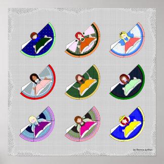 Charakter-Lesezeichen-Plakat Poster