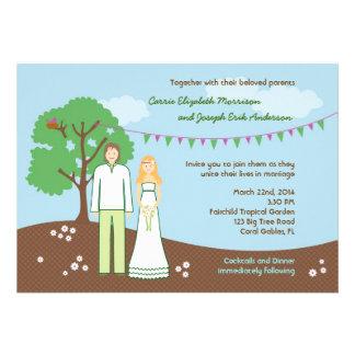 Charakter-wunderliche Hochzeits-Einladung