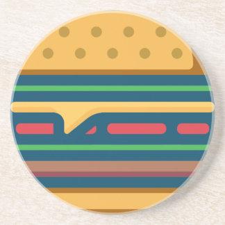 Charbroiled Cheeseburger Getränkeuntersetzer