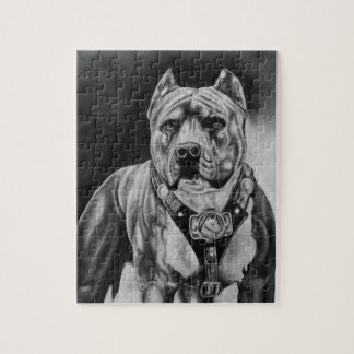 CHARCOIL PITBULL DRAWNING PUZZLESPIEL PUZZLE