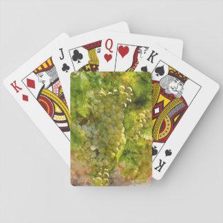 Chardonnay-Trauben auf der Rebe Spielkarten