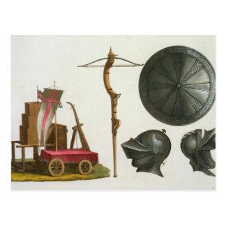 Chariot, Crossbow und Rüstung von Mailand, Postkarte