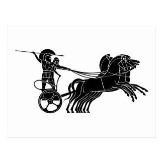 Chariot (Pferdewagen), griechischer Postkarten