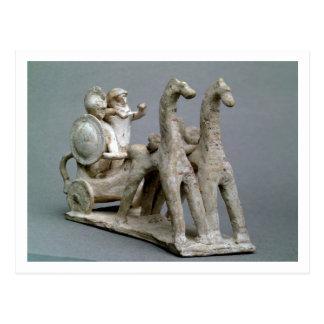 Chariot und Pferde, vom Grab von Prinzessin Nefe Postkarte