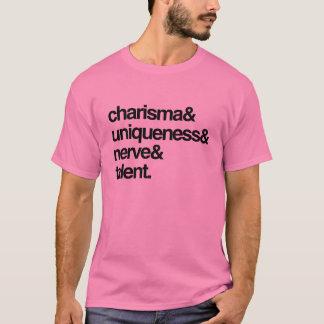 Charisma-Einzigartigkeits-Nerv und Talent T-Shirt